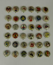 Complete Set 36 Pinbacks Kellogg's Pep Military Pins