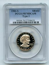 1981 S $1 T1 SBA Susan B Anthony Dollar Proof PCGS PR70DCAM