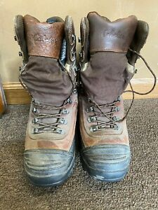 Cabela's Steel Toe Men's Boot Size 8 Lined Tie Up Hunting Moisture Trap Outdoor