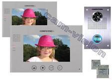 """Neu! 16-MELODIEN VIDEO TÜRSPRECHANLAGE/110°CMOS KAMERA/7""""Touchscreen Monitore"""