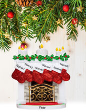 Personalized Christmas Tree Ornament Gift, Mantle Stockings Family of 2-3-4-5-6