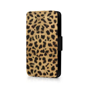 Leopard Print Phone Flip Case For iPhone - Huawei