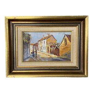 'Afternoon Light - Paddington' / Otto Kuster Original 1972 Oil Painting on Board