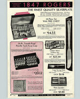 1932 PAPER AD 2 PG 1847 Rogers Silverware Viande Style Design Her Majesty