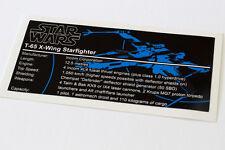 Lego Star Wars UCS Sticker for T65 X-Wing (10240 / 9493 / 7191 / 7242 / 6212)