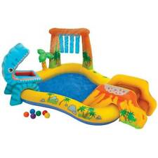 Intex 8ft x 6.25ft x 43in Dinosaur Play Center Inflatable Kids Set Swimming Pool