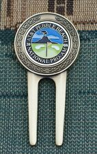 RARE_2008 Pebble Beach AT&T National Pro-Am_Gold Plated Ball Marker + Divot Tool