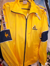 LE COQ SPORTIF TRACKSUIT top IN MED LARGE OR XL £22 BNWL IN YELLOW