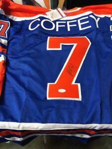 Paul Coffey Signed Edmonton Oilers Blue Jersey (JSA COA) 4x Stanley Cup Champion