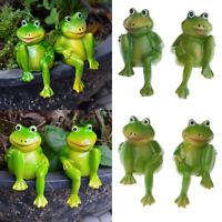 Mini süße Frosch aus Harz für Dollhouse Bonsai Garten Deko, auch als
