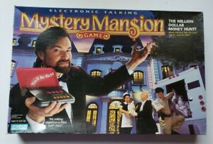 Electronic Talking Mystery Mansion Board Game Parker Brothers 1995 Incomplete