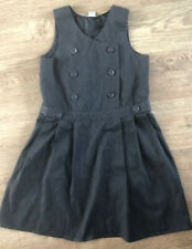 TU  grey pleated Girls pinafore dress Age 9 years