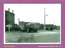 PHOTO DE POLICE CONSTAT D'ACCIDENT VERS 1955, CAMION TRAVAUX PUBLICS  -J73