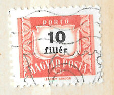 hungary 1958 postage due 10 filler stamp - see scan