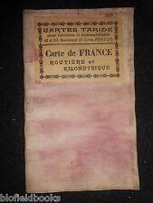 Vintage Cartes Taride Map of France (c1920) Pour Cyclistes et Automobilistes
