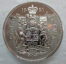 1991 CANADA 50 CENTS PROOF-LIKE HALF DOLLAR COIN