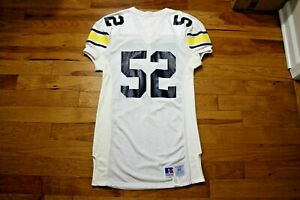 Early 1990's Michigan Wolverines player/game used jersey Russell size 48+2