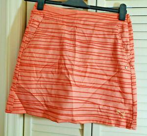 $70 PUMA Orange Women's Line Print Skirt Size 0 - NWT