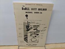 DoAll DBW #1A Butt Welder Instruction Manual DBW-1A