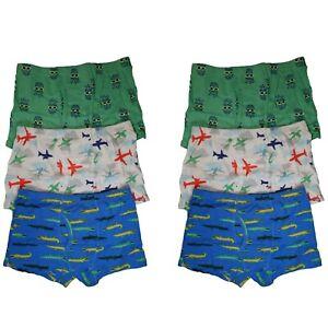 6 Pack Cotton Toddler Little Boys Kids Underwear Underpants Boxer Briefs 4T-8T