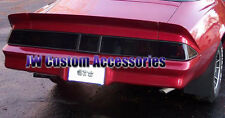 78-81 Chevrolet Camaro GTS Smoke Acrylic Taillight & Center Panel Covers 3pc Set