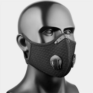 Face Masks with Activated Filter and Valves for Allergy, Outdoor, Gym