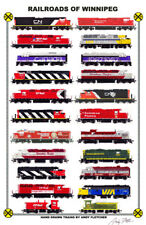 "Railroads of Winnipeg 11""x17"" Railroad Poster by Andy Fletcher signed"