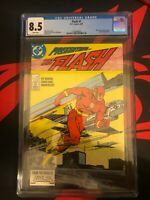 Flash #1 CGC 8.5 VF+ 1987 White Pages