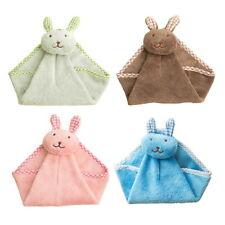 Cute Rabbit Kitchen Bathroom Hanging Towel Coral Velvet Hand Towels Decor