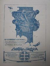 1923 PUB LORRAINE DIETRICH MOTEUR AVIATION AERO ENGINE ORIGINAL FRENCH AD