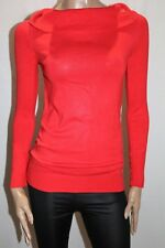 ESPRIT Brand Red Rib Knit Roll Neck Long Sleeve Sweater Top Size XS BNWT #TF97