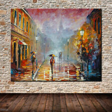 "Huge Hand-painted Oil Painting On Canvas Wall Art Pictures ""Street Landscape"""