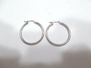 Lady's 950 Platinum Earrings Hoop Pierced Marked Japan