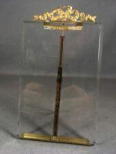 Cadre porte-photo verre biseauté, fronton laiton noeud ruban, style Louis XVI