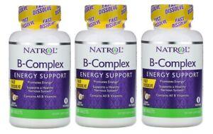 Natrol Vitamin B Complex Fast Dissolve,270 tablet Energy Support Coconut Flavor