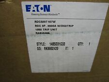 NEW  EATON CUTLER-HAMMER 2000A BREAKER RDC320T107W NEW IN BOX