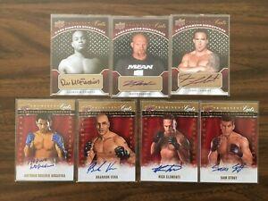 2009 Upper Deck UFC Prominent Cuts Auto Lot (7 Cards); UFC Rookie Auto; Jardine
