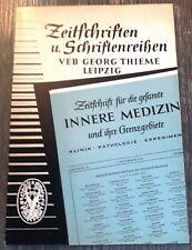 Medizinischer Fachzeitschriftenkatalog 1957 / VEB Georg Thieme Leipzig