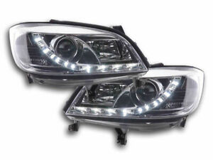 OPEL ZAFIRA A CLEAR DRL HEADLIGHTS HEADLAMPS DAYTIME RUNNING LIGHTS 4/99-6/2005