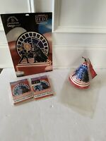 STAR WARS BIRTHDAY PARTY LOT X 4 CENTER HATS INVITE VINTAGE 1983 ROTJ LUKE DARTH