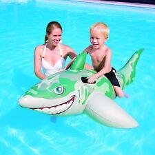 Army Camoflauge Shark Swimming Pool Outdoor Fun Pool Ride on Float 72 x 40 inch