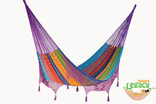 Deluxe King Size Outdoor Cotton Mexican Hammock in Colori colour by Mayan Legacy
