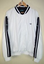 vtg 90s FRED PERRY BOMBER MOD SKINS CASUALS RETRO TRACK JACKET TRACKSUIT TOP L