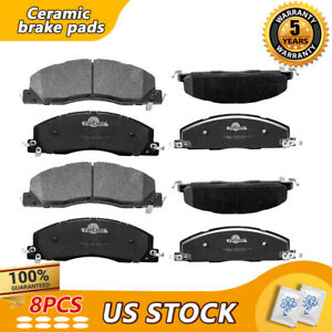Front Rear Ceramic Brake Pads For Ram 2500 3500 2017 2016 2015 2014 2013-2007