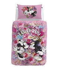 Set Copripiumino Minnie Love Topolino Digitale Rosa Fuxia Piazza Disney Caleffi