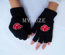 Naruto Itachi Cosplay Gloves Akatsuki Member Red Cloud Inspired Winter Mitten