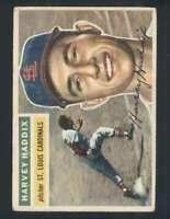 1956 Topps #77 Harvey Haddix VG/VGEX Cardinals Grey Backs 131966