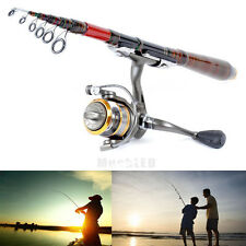 Professional Carbon Fiber Telescopic Fishing Rod Travel Spinning Rod Pole 2.1m