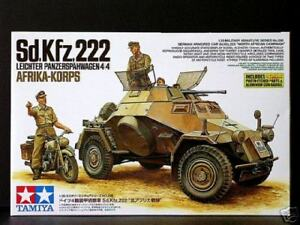 Tamiya 1/35 Sd.kfz 222 Afrika Korps Avec / DKW NZ350 #35286