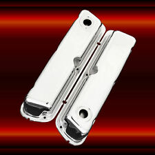 Valve Covers for Small Block Ford 260 289 302 351W Engines Chrome Factory Height
